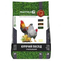 Компост з курячого посліду гранульований Peatfield 6 л - органічне добриво (Еко-Азот)